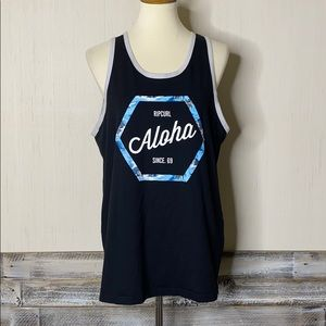 RIP CURL L Aloha Graphic Tank Top Like New
